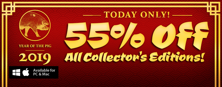 Lunar New Year Sale: 55% Off All Collector's Editions