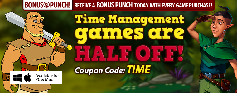 Coupon: Time Management Games Are 50% Off