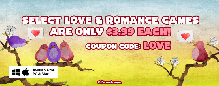 Coupon: Love & Romance Games Are 50% Off