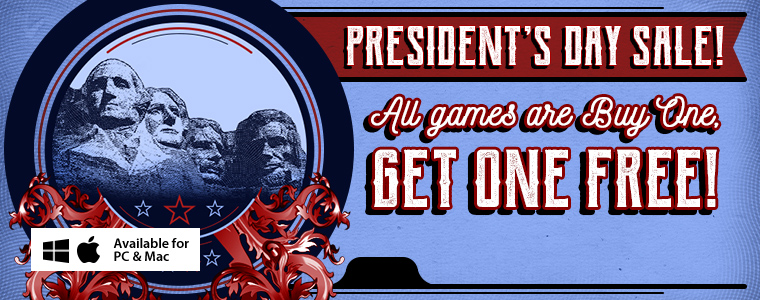 President's Day Coupons: Buy One Game, Get One Free