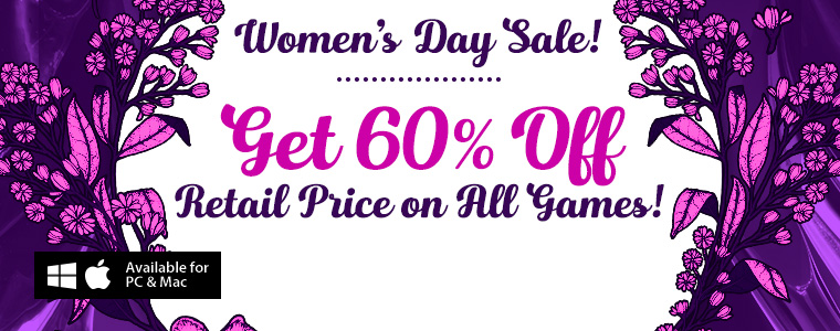 Women's Day Coupons: 60% Off All Games