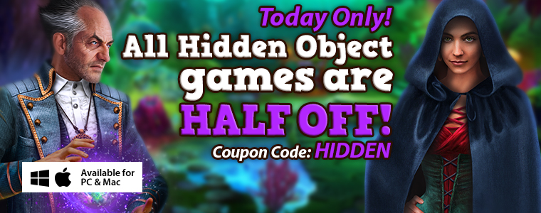 Today Only! All Hidden Object games are HALF OFF! Big Fish Games Coupon Code