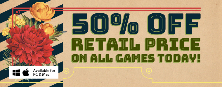 Spring Sale: 50% Off All Games