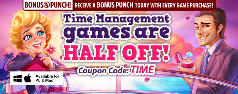 Coupon Code: Half Off Time Management Games