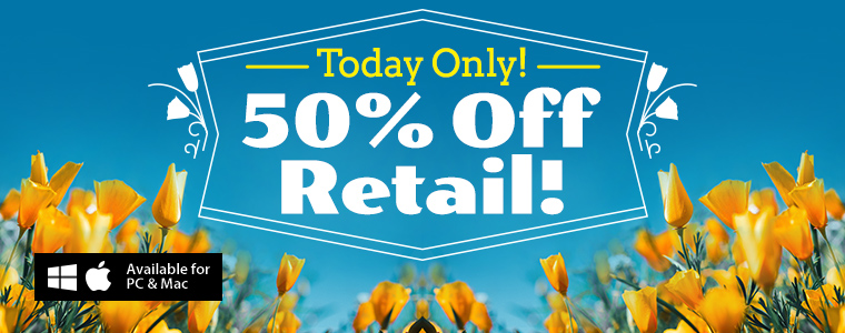 Coupons: 50% Off Retail