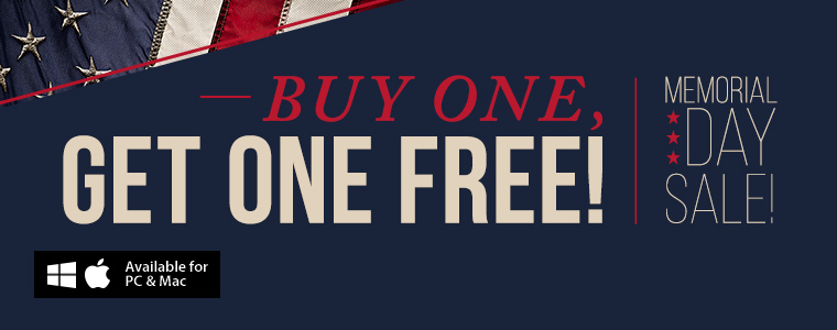 Memorial Day Sale: Buy One, Get One Free