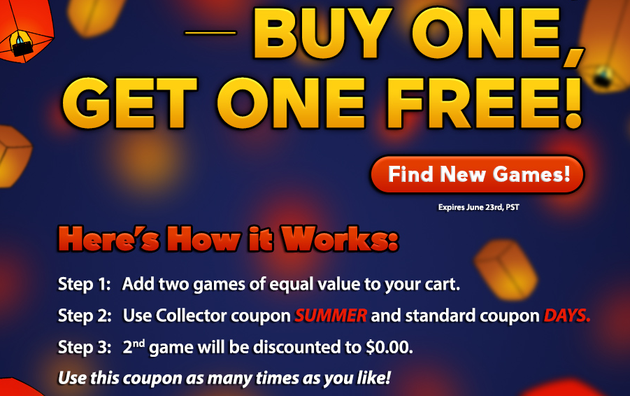 Summer Sale: Buy One, Get One Free