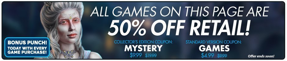 Coupons: 50% Off Mystery Games