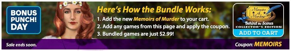 Bundle Sale: Memoirs of Murder: Behind the Scenes  CE