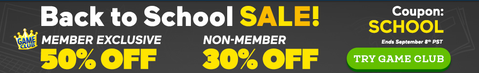 Coupon: 50% Off All Games