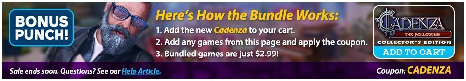 Bundle Sale: Cadenza: The Following  CE