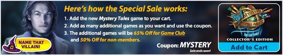 Special Sale: Mystery Tales: Art and Souls  CE