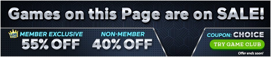 Coupon: 55% Off Editor's Choice Games