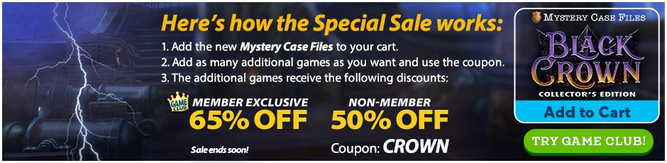 Special Sale: Mystery Case Files: Black Crown  CE