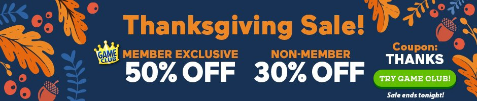 Thanksgiving Sale: Up to 50% Off All Games