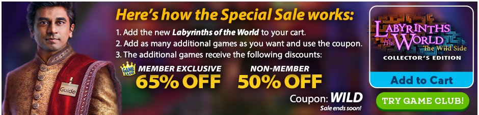 Special Sale: Labyrinths of the World: The Wild Side CE