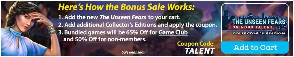 Bonus Sale: The Unseen Fears: Ominous Talent CE