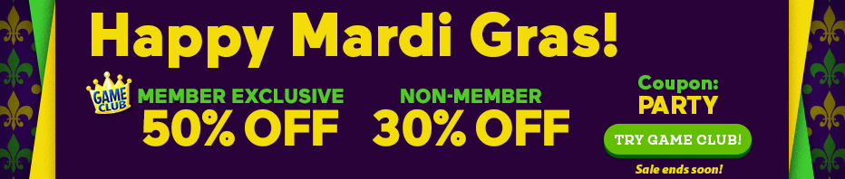 Mardi Gras Sale: Up to 50% Off All Games