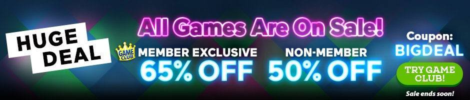Huge One Day Sale: Up to 65% Off All Games