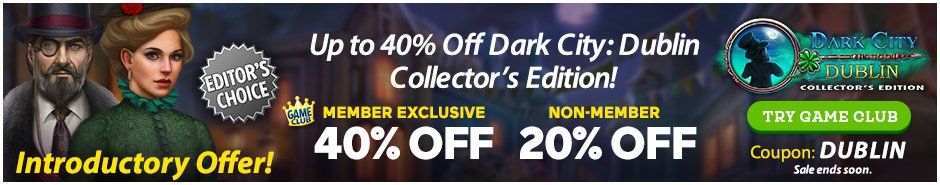 Coupon: Up to 40% Off Dark City: Dublin CE
