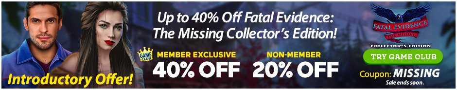 Coupon: Up to 40% Off Fatal Evidence: The Missing CE