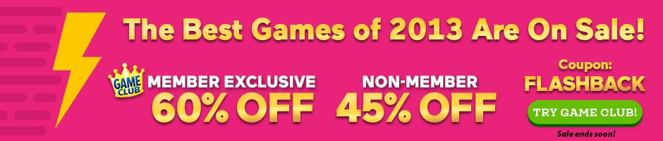 Flashback Sale: Up to 60% Off the Best Games of 2013