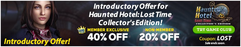 Coupon: Up to 40% Off Haunted Hotel: Lost Time CE