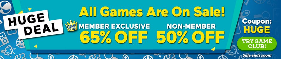 Coupon: Up to 65% Off All Games