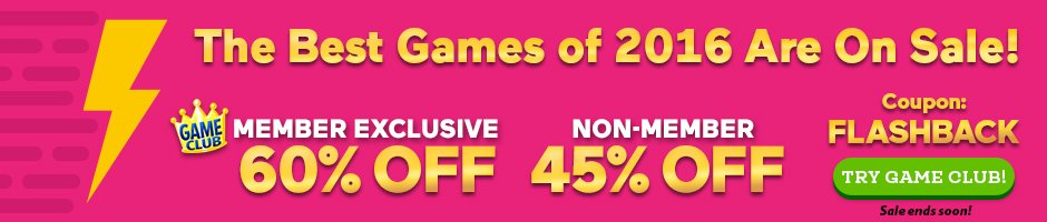 Flashback Sale: Up to 60% Off the Best Games of 2016