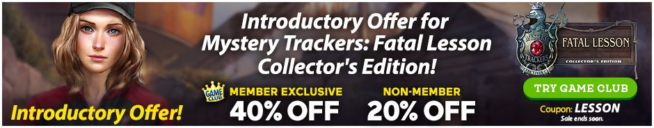 Coupon: Up to 40% Off Mystery Trackers: Fatal Lesson CE
